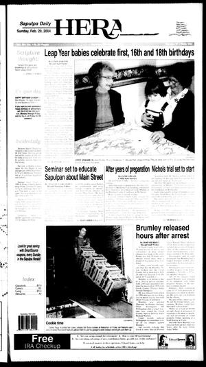 Primary view of Sapulpa Daily Herald (Sapulpa, Okla.), Vol. 89, No. 146, Ed. 1 Sunday, February 29, 2004