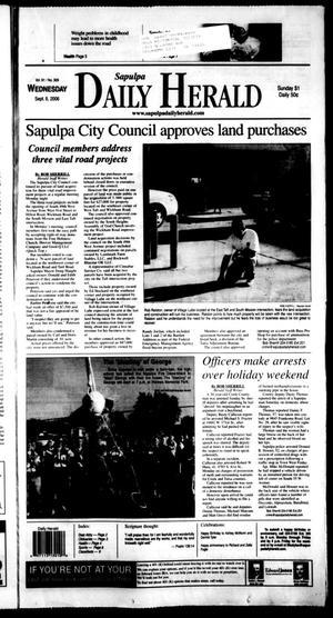 Primary view of Sapulpa Daily Herald (Sapulpa, Okla.), Vol. 91, No. 309, Ed. 1 Wednesday, September 6, 2006
