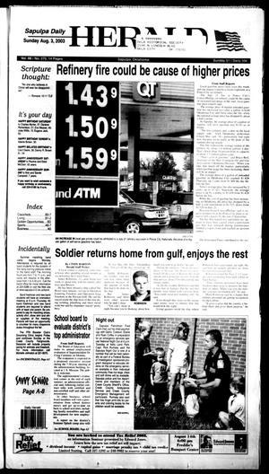 Primary view of Sapulpa Daily Herald (Sapulpa, Okla.), Vol. 88, No. 276, Ed. 1 Sunday, August 3, 2003