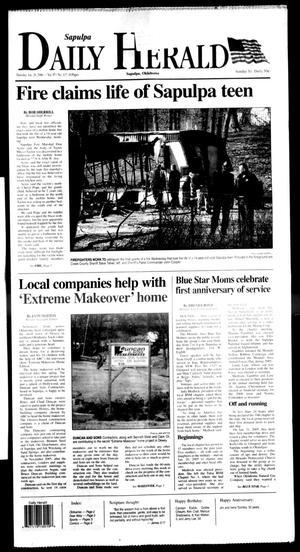 Primary view of Sapulpa Daily Herald (Sapulpa, Okla.), Vol. 91, No. 117, Ed. 1 Thursday, January 26, 2006