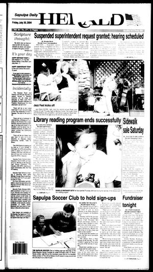 Primary view of Sapulpa Daily Herald (Sapulpa, Okla.), Vol. 89, No. 271, Ed. 1 Friday, July 30, 2004