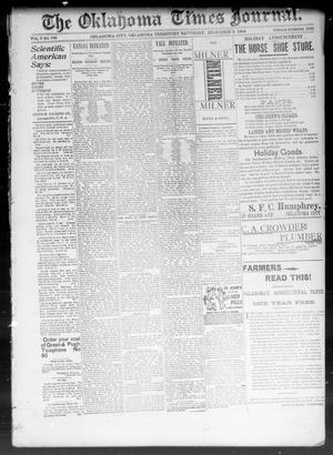 Primary view of object titled 'The Okahoma Times Journal. (Oklahoma City, Okla. Terr.), Vol. 5, No. 143, Ed. 1 Saturday, December 2, 1893'.
