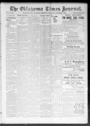 Primary view of object titled 'The Okahoma Times Journal. (Oklahoma City, Okla. Terr.), Vol. 5, No. 147, Ed. 1 Thursday, December 7, 1893'.