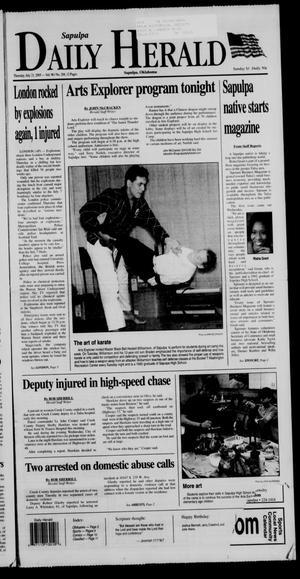 Primary view of Sapulpa Daily Herald (Sapulpa, Okla.), Vol. 90, No. 268, Ed. 1 Thursday, July 21, 2005