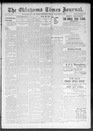 Primary view of object titled 'The Okahoma Times Journal. (Oklahoma City, Okla. Terr.), Vol. 5, No. 150, Ed. 1 Sunday, December 10, 1893'.