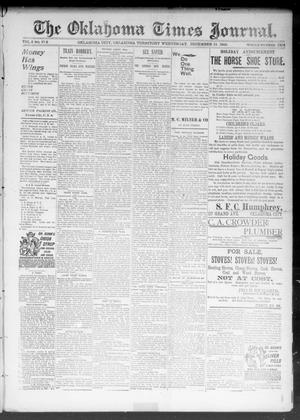 Primary view of object titled 'The Okahoma Times Journal. (Oklahoma City, Okla. Terr.), Vol. 5, No. 152, Ed. 1 Wednesday, December 13, 1893'.