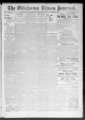 Primary view of object titled 'The Okahoma Times Journal. (Oklahoma City, Okla. Terr.), Vol. 5, No. 154, Ed. 1 Friday, December 15, 1893'.