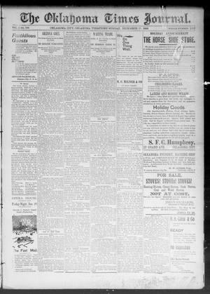Primary view of object titled 'The Okahoma Times Journal. (Oklahoma City, Okla. Terr.), Vol. 5, No. 156, Ed. 1 Sunday, December 17, 1893'.