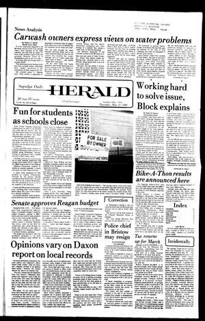 Primary view of Sapulpa Daily Herald (Sapulpa, Okla.), Vol. 67, No. 213, Ed. 1 Thursday, May 21, 1981