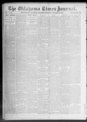Primary view of object titled 'The Okahoma Times Journal. (Oklahoma City, Okla. Terr.), Vol. 5, No. 162, Ed. 2 Saturday, December 23, 1893'.