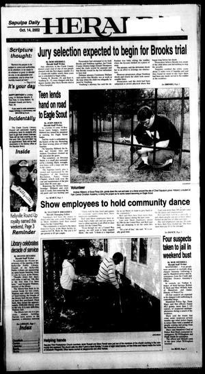 Primary view of Sapulpa Daily Herald (Sapulpa, Okla.), Vol. 87, No. 336, Ed. 1 Monday, October 14, 2002