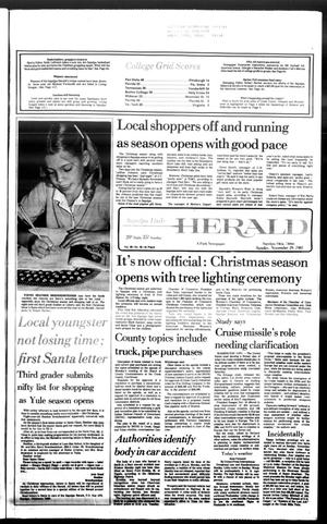 Primary view of Sapulpa Daily Herald (Sapulpa, Okla.), Vol. 68, No. 66, Ed. 1 Sunday, November 29, 1981