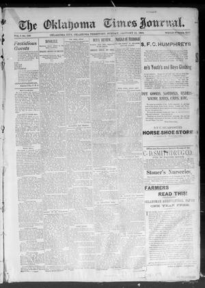Primary view of The Okahoma Times Journal. (Oklahoma City, Okla. Terr.), Vol. 5, No. 187, Ed. 1 Sunday, January 21, 1894