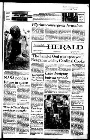 Primary view of Sapulpa Daily Herald (Sapulpa, Okla.), Vol. 67, No. 185, Ed. 1 Sunday, April 19, 1981