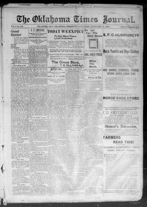Primary view of object titled 'The Okahoma Times Journal. (Oklahoma City, Okla. Terr.), Vol. 5, No. 204, Ed. 1 Saturday, February 10, 1894'.