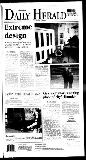 Primary view of Sapulpa Daily Herald (Sapulpa, Okla.), Vol. 91, No. 156, Ed. 1 Monday, March 13, 2006
