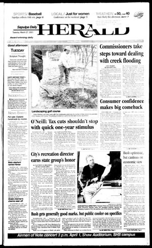 Primary view of Sapulpa Daily Herald (Sapulpa, Okla.), Vol. 86, No. 166, Ed. 1 Tuesday, March 27, 2001