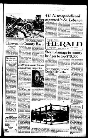 Primary view of Sapulpa Daily Herald (Sapulpa, Okla.), Vol. 67, No. 238, Ed. 1 Friday, June 19, 1981