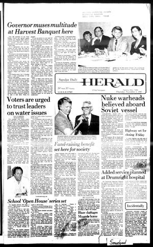 Primary view of Sapulpa Daily Herald (Sapulpa, Okla.), Vol. 68, No. 46, Ed. 1 Thursday, November 5, 1981
