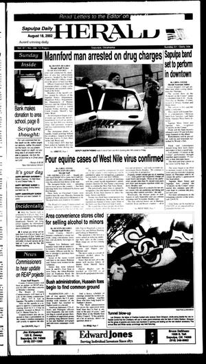 Primary view of object titled 'Sapulpa Daily Herald (Sapulpa, Okla.), Vol. 87, No. 288, Ed. 1 Sunday, August 18, 2002'.