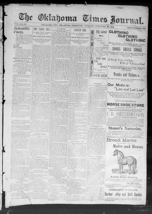 Primary view of object titled 'The Okahoma Times Journal. (Oklahoma City, Okla. Terr.), Vol. 5, No. 218, Ed. 1 Tuesday, February 27, 1894'.