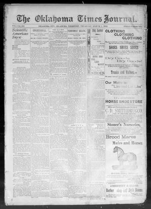 Primary view of object titled 'The Okahoma Times Journal. (Oklahoma City, Okla. Terr.), Vol. 5, No. 219, Ed. 1 Thursday, March 1, 1894'.