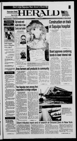 Primary view of Sapulpa Daily Herald (Sapulpa, Okla.), Vol. 87, No. 221, Ed. 1 Thursday, May 30, 2002