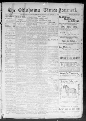 Primary view of object titled 'The Okahoma Times Journal. (Oklahoma City, Okla. Terr.), Vol. 5, No. 228, Ed. 1 Sunday, March 11, 1894'.