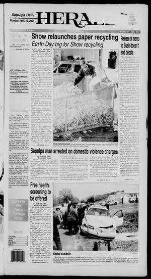 Primary view of Sapulpa Daily Herald (Sapulpa, Okla.), Vol. 89, No. 177, Ed. 1 Monday, April 12, 2004