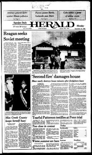Primary view of Sapulpa Daily Herald (Sapulpa, Okla.), Vol. 71, No. 9, Ed. 1 Monday, September 24, 1984