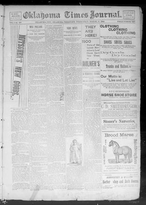 Primary view of object titled 'Okahoma Times Journal. (Oklahoma City, Okla. Terr.), Vol. 5, No. 236, Ed. 1 Wednesday, March 21, 1894'.