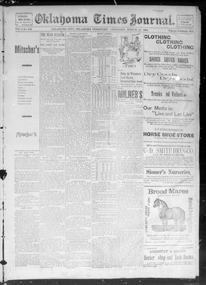 Primary view of object titled 'Okahoma Times Journal. (Oklahoma City, Okla. Terr.), Vol. 5, No. 243, Ed. 1 Thursday, March 29, 1894'.