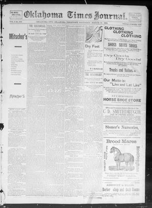 Primary view of object titled 'Okahoma Times Journal. (Oklahoma City, Okla. Terr.), Vol. 5, No. 245, Ed. 1 Saturday, March 31, 1894'.