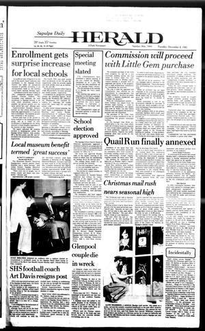 Primary view of Sapulpa Daily Herald (Sapulpa, Okla.), Vol. 68, No. 74, Ed. 1 Tuesday, December 8, 1981