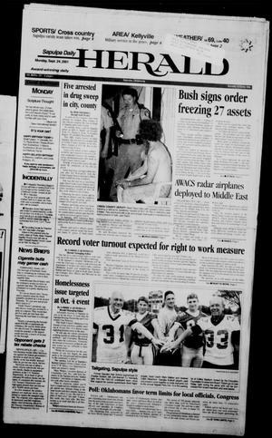 Primary view of Sapulpa Daily Herald (Sapulpa, Okla.), Vol. 86, No. 321, Ed. 1 Monday, September 24, 2001