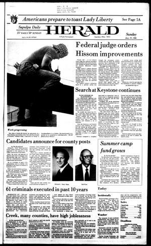 Primary view of Sapulpa Daily Herald (Sapulpa, Okla.), Vol. 72, No. 246, Ed. 1 Sunday, June 29, 1986
