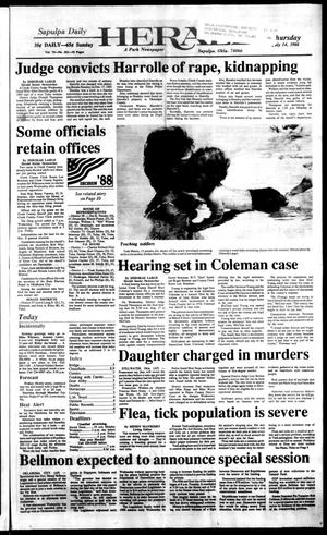 Primary view of Sapulpa Daily Herald (Sapulpa, Okla.), Vol. 74, No. 261, Ed. 1 Thursday, July 14, 1988