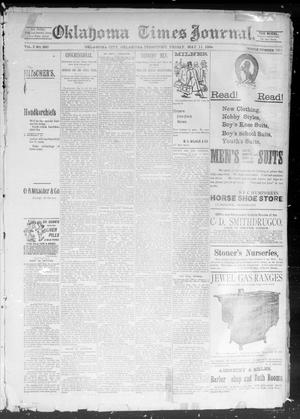 Primary view of object titled 'Okahoma Times Journal. (Oklahoma City, Okla. Terr.), Vol. 5, No. 279, Ed. 1 Friday, May 11, 1894'.