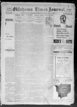 Primary view of object titled 'Okahoma Times Journal. (Oklahoma City, Okla. Terr.), Vol. 5, No. 281, Ed. 1 Sunday, May 13, 1894'.