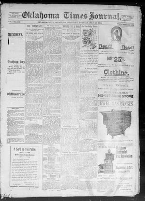 Primary view of object titled 'Okahoma Times Journal. (Oklahoma City, Okla. Terr.), Vol. 5, No. 282, Ed. 1 Tuesday, May 15, 1894'.