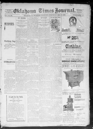 Primary view of object titled 'Okahoma Times Journal. (Oklahoma City, Okla. Terr.), Vol. 5, No. 283, Ed. 1 Wednesday, May 16, 1894'.