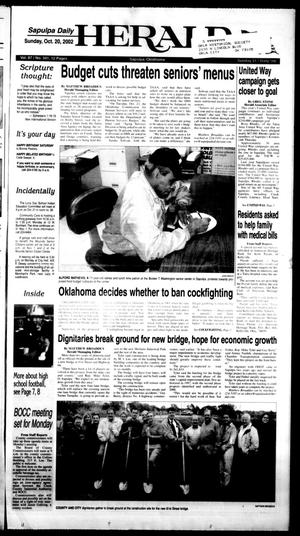 Primary view of Sapulpa Daily Herald (Sapulpa, Okla.), Vol. 87, No. 341, Ed. 1 Sunday, October 20, 2002