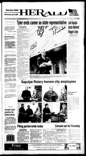 Primary view of Sapulpa Daily Herald (Sapulpa, Okla.), Vol. 89, No. 227, Ed. 1 Wednesday, June 9, 2004