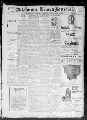 Primary view of object titled 'Okahoma Times Journal. (Oklahoma City, Okla. Terr.), Vol. 5, No. 288, Ed. 1 Tuesday, May 22, 1894'.