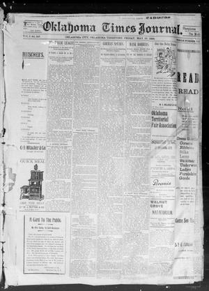 Primary view of object titled 'Okahoma Times Journal. (Oklahoma City, Okla. Terr.), Vol. 5, No. 291, Ed. 1 Friday, May 25, 1894'.