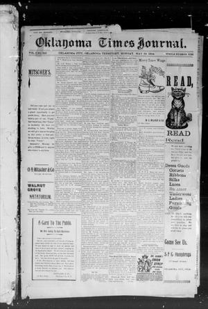 Primary view of object titled 'Okahoma Times Journal. (Oklahoma City, Okla. Terr.), Vol. 5, No. 294, Ed. 1 Monday, May 28, 1894'.