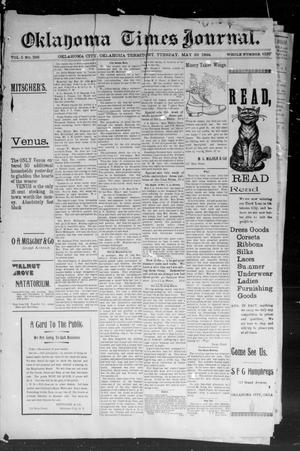 Primary view of object titled 'Okahoma Times Journal. (Oklahoma City, Okla. Terr.), Vol. 5, No. 295, Ed. 1 Tuesday, May 29, 1894'.