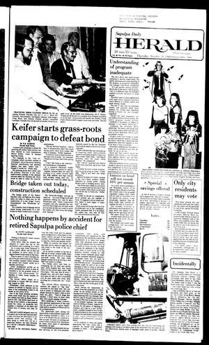 Primary view of Sapulpa Daily Herald (Sapulpa, Okla.), Vol. 68, No. 40, Ed. 1 Thursday, October 29, 1981