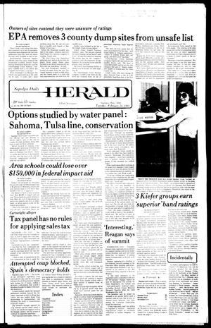 Primary view of Sapulpa Daily Herald (Sapulpa, Okla.), Vol. 67, No. 139, Ed. 1 Tuesday, February 24, 1981