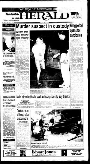 Primary view of Sapulpa Daily Herald (Sapulpa, Okla.), Vol. 87, No. 254, Ed. 1 Monday, July 8, 2002